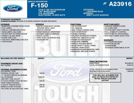 2018 Ford F-150 for sale in Hay River, Northwest Territories