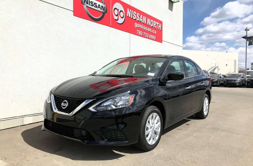Black 2019 Nissan Sentra SV for sale in Edmonton, Alberta